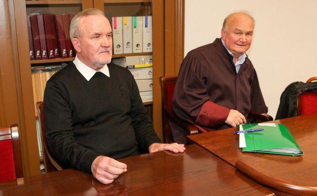Peran Bošković (levo) in odvetnik Milan Krstić sta se pritožila na obsodilni del. FOTO: Marko Feist