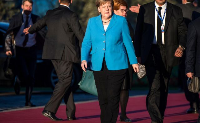 Nemška kanclerka je z udeležbo na konferenci pokazala privrženost globalnemu dogovoru o migracijah. FOTO: FADEL SENNA / AFP
