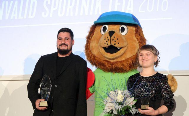 Darko Đurić je bil po letu 2013 še drugič najboljši športnik med invalidi, Tanja Glušić pa je bila prvič najboljša. FOTO: Mavric Pivk/Delo