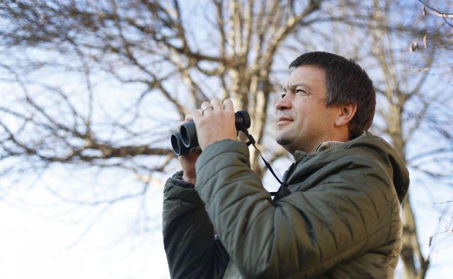 Tomaž Mihelič, Društvo za opazovanje in proučevanje ptic Slovenije. FOTO: Leon Vidic