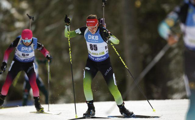 Lea Einfalt kot biatlonka še ni nastopila v Hochfilznu.<br /> FOTO Matej Družnik/Delo