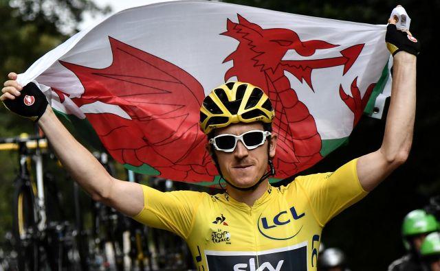 Geraint Thomas je z zmago na Touru spet popravil podobo Skyja v javnosti. FOTO: Reuters