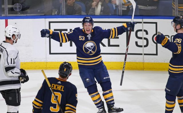 Skinner je pred sezono okrepil Buffalo, tokrat je bil junak ob zmagi Sabres. FOTO: AP