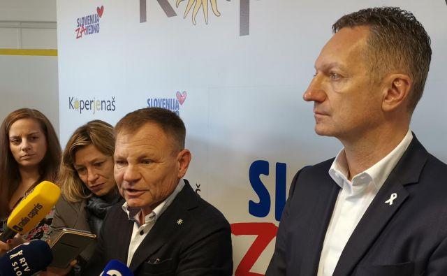 Boris Popovič in Franci Matoz na tiskovki. Foto: Boris Šuligoj