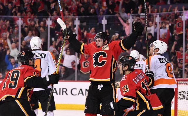 Sean Monahan je bil eden od junakov Calgaryja. FOTO: Reuters