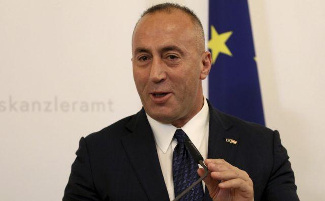 Kosovski premier Ramush Haradinaj je napovedal ponovno zaostritev ukrepov proti Srbiji. Foto AP