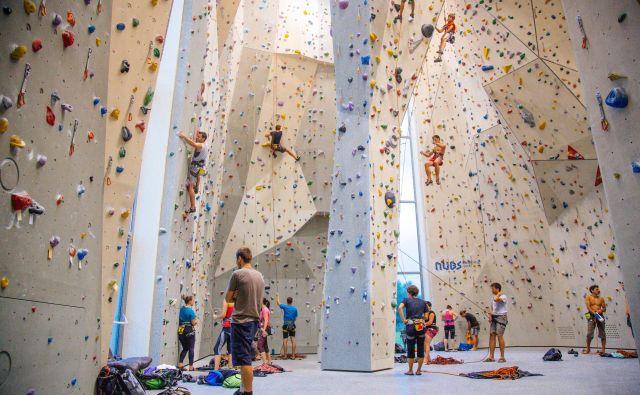 Ljubljanski plezalni center pri Štepanjskem naselju je prvi moderen namenski plezalni objekt z visoko steno v Sloveniji. Foto Polona Avanzo