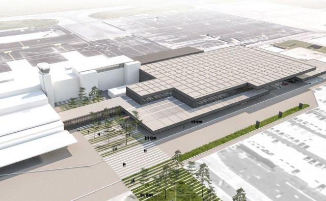 Takšen bo novi odhodni terminal na Letališču Jožeta Pučnika Ljubljana. Foto Fraport Slovenija