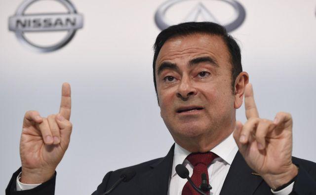 Prvotni rezultati notranje preiskave v Renaultu so po poročanju AFP pokazali, da je bila Ghosnova plača urejena v skladu s francosko zakonodajo. FOTO: AFP