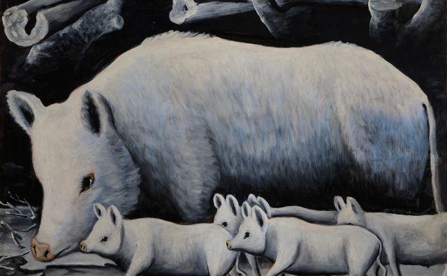 <em>Bela svinja s prašički </em>