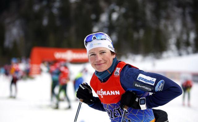 Katja Višnar je bila najboljša Slovenka v Davosu. FOTO: Matej Družnik/Delo