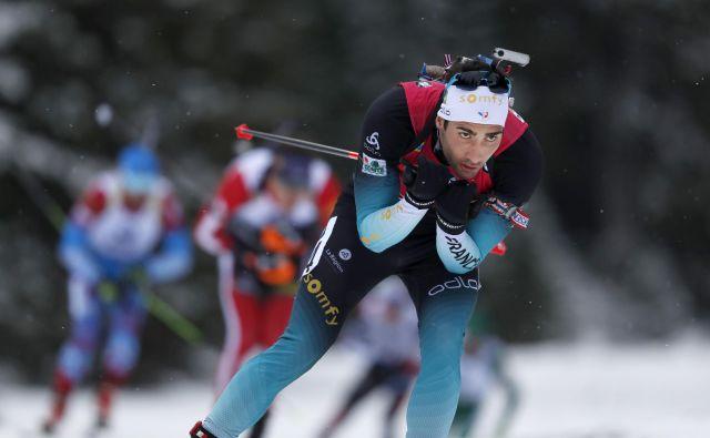 Martin Fourcade se je vrnil na biatlonski vrh. FOTO: Matej Družnik/Delo