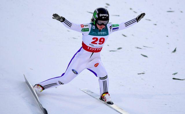 Ema Klinec pridno nabira točke svetovnega pokala. FOTO. AFP