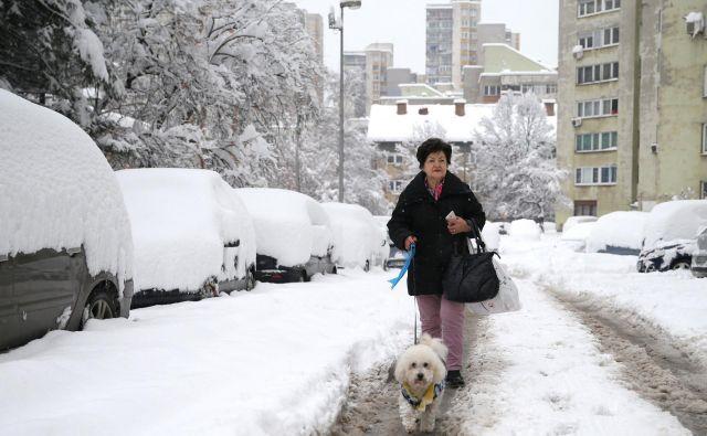 Zenico je zajelo močno sneženje. FOTO: Dado Ruvic/Reuters