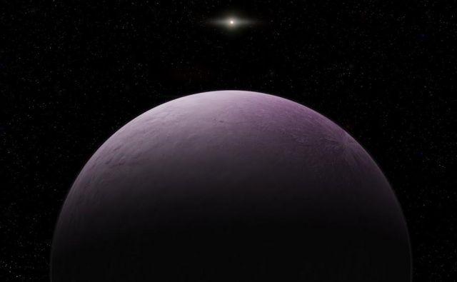 Umetniška upodobitev pritlikavega planeta 2018 VG18. FOTO: Roberto Molar Candanosa/Carnegie Institution for Science