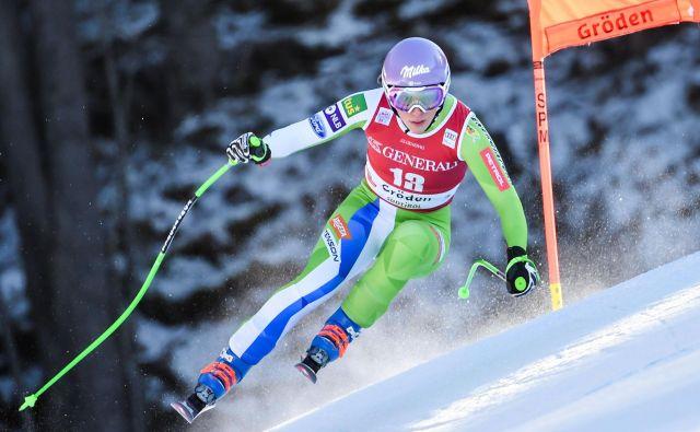 Za Ilko Štuhec je bila Val Gardena prelomna. Na včerajšnjem smuku je bila najhitrejša in najbolj natančna, prikazala je nastop brez napake. FOTO: AFP