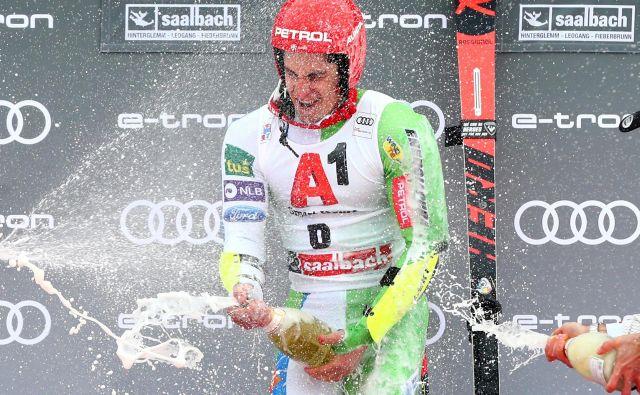 Žan Kranjec: Ilkin zmagovalni nastop sem spremljal po televiziji. Super dan za slovensko smučanje! FOTO: Lisi Niesner/Reuters