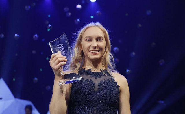 Janja Garnbret je v Innsbrucku dvakrat postala svetovna prvakinja. FOTO: Leon Vidic/Delo
