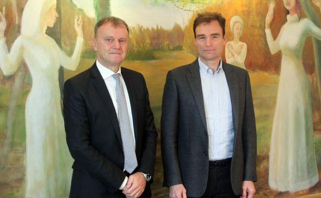 Srečko Jadek in Pavle Pensa, poslovodna partnerja v Odvetniški pisarni Jadek & Pensa. FOTO: Mavric Pivk/Delo