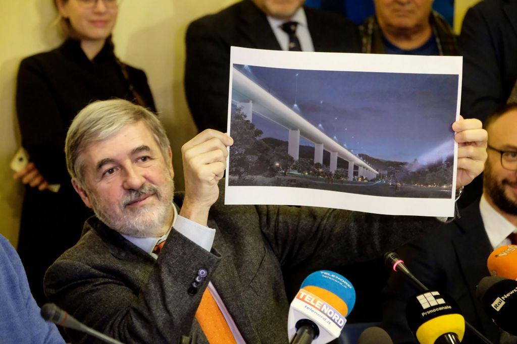 Novi most v Genovi bo zgrajen v spomin na 43 žrtev