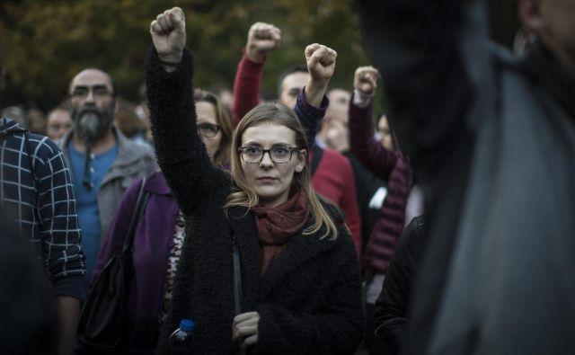 V Banja Luki se je zbrala množica podpornikov Davorja Dragičevića, Banja Luka, 5. 10. 2018 Foto Voranc Vogel/delo
