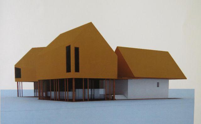 Računalniška simulacija bodočega Interpretacijskega centra sredi Iga. Vir: Občina Ig Foto Bojan Rajšek