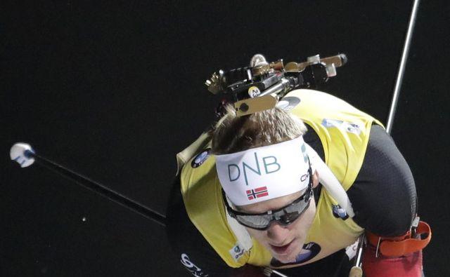 Norvežan Johannes Thingnes Boe je na začetkus ezone daleč pred konkurenco. FOTO: AP