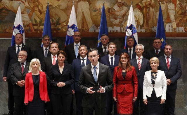 13. vlada pod vodstvom Marjana Šarca. FOTO: Leon Vidic