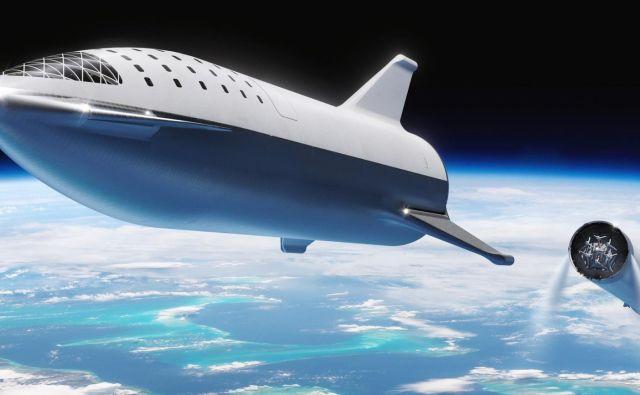 Starship bo nova raketa podjetja Elona Muska, s katero želi osvojiti Mars. FOTO: SpaceX