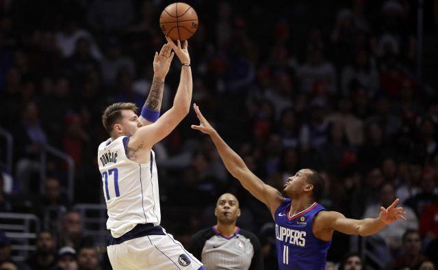 Za Luko Dončićem je nova rekordna noč v ligi NBA. FOTO: AP