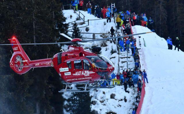 Marc Gisin je utrpel poškodbe reber in pljuč. FOTO: Alberto Pizzoli/AFP