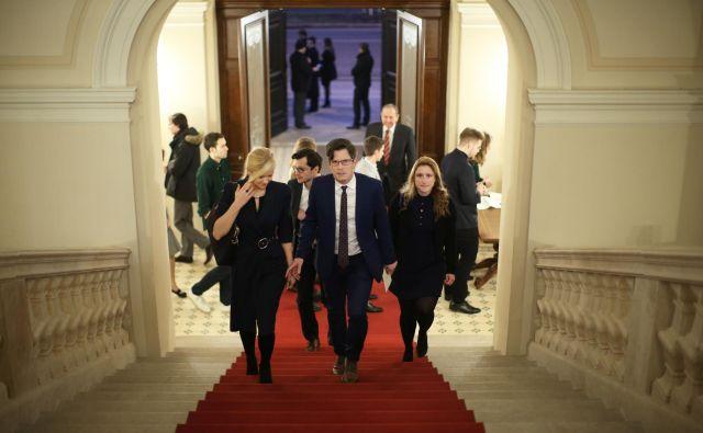 Predsednik Borut Pahor je sprejel Slovenke in Slovence, ki študirajo ali kot znanstveniki, raziskovalci in predavatelji delujejo v tujini. FOTO: Jure Eržen