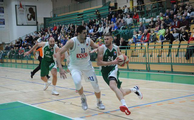 Luka Lapornik je prvi Krkin strelec tudi proti Budućnosti. FOTO: ABA