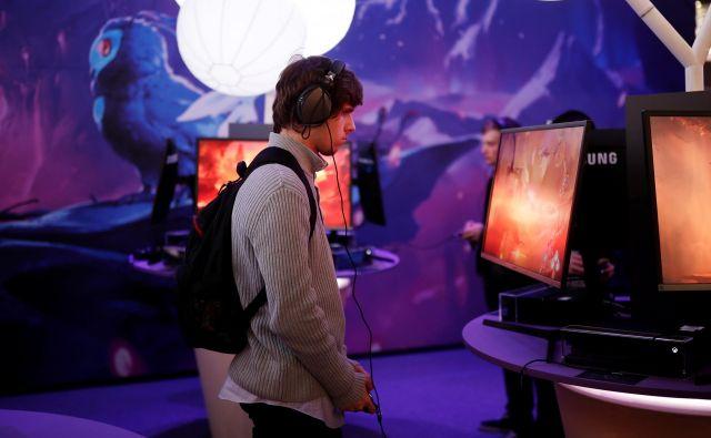 Tekmovanje v računalniških igrah v Parizu. FOTO: Reuters