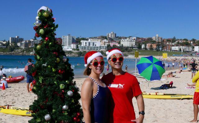Letošnji božič je v Avstraliji zaznamovala ekstremna vročina. FOTO: Jill Gralow Reuters