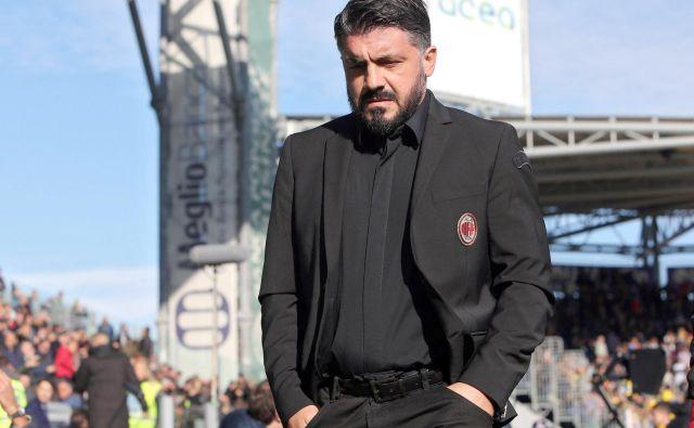 Gennaru Gattusu pri Milanu, ki v zadnjih štirih ligaških tekmah ni zmagal, gori pod nogami. FOTO: AP