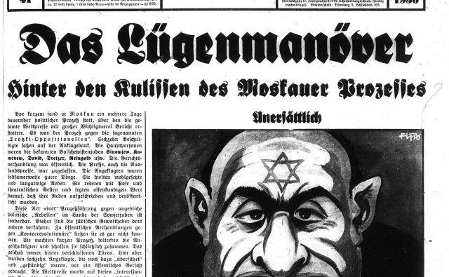 Julius Streicher, urednik nacističnega časopisa Der Stürmer, je bil med obsojenimi na nürnberškem procesu. FOTO: arhiv