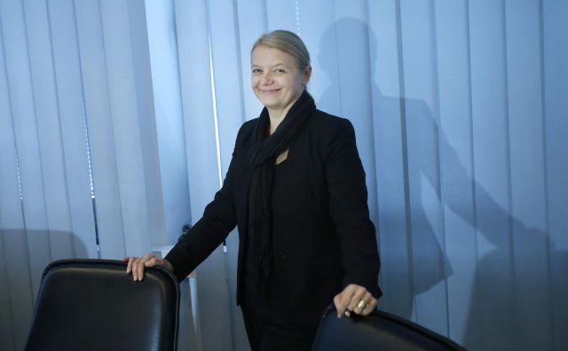 Stanislava Zadravec Caprirolo, direktorica Združenja bank Slovenije, se bo morala posloviti, če jo doleti pravnomočna obtožnica. Foto Blaž Samec