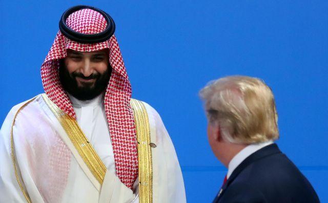 ZDA s predsednikom Donaldom Trumpom na čelu so se na brutalnost savdskega dvora pod prestolonaslednikom Mohamedom bin Salmanom odzvale hipokritsko in oportunistično. FOTO: Reuters