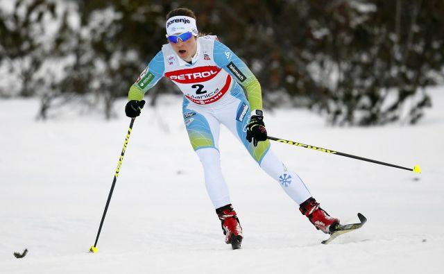 Alenka Čebašek je ob selitvi iz Italije v Švico naša najbolje uvrščena tekačica v seštevku turneje – 19. FOTO: Matej Družnik