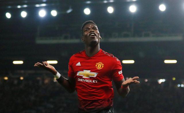 Takole je Paul Pogba proslavil svoj drugi včerajšnji gol. FOTO: Reuters
