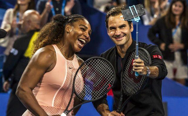 Serena Williams in Roger Federer FOTO: Tony Ashby/AFP