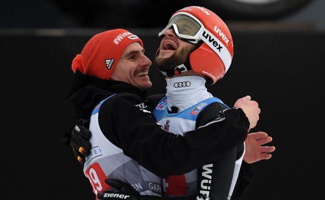 Richard Freitag se letos veseli predvsem uspehov Markusa Eisenbichlerja. FOTO: AFP