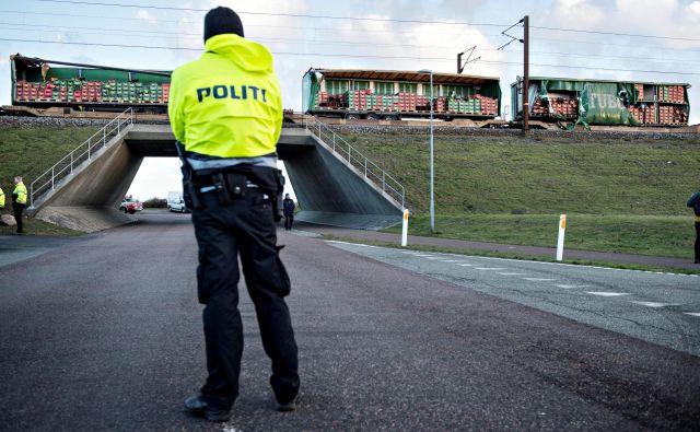 Vlak je prevažal 131 potnikov in tri člane posadke. FOTO: Ritzau Scanpix Denmark/Reuters