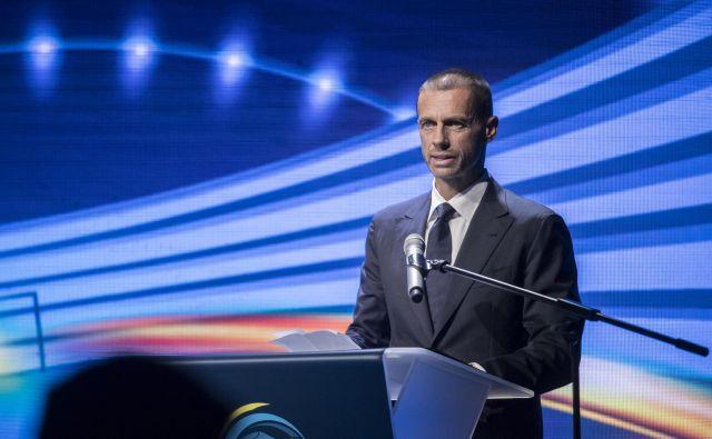 Nekdanji predsednik NZS Aleksander Čeferin bo dobil 7. februarja v Rimu prvi polni mandat predsednika Evropske nogometne zveze. FOTO: Uroš Hočevar