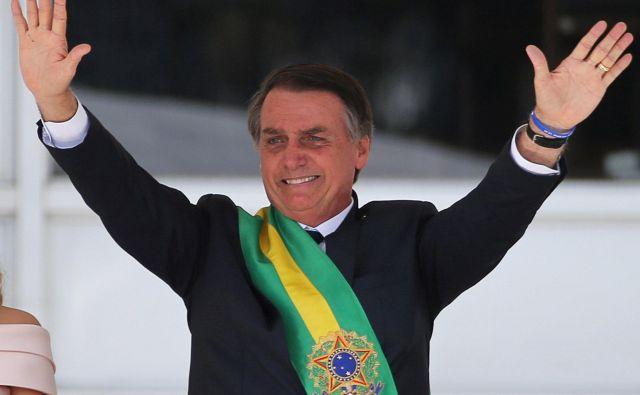 Jair Bolsonaro je dejaven tudi v mednarodnih odnosih. Brazilsko veleposlaništvo v Izraelu je iz Tel Aviva preselil v Jeruzalem. FOTO: Reuters