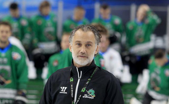 Trenerju Juretu Vnuku kaže dobro z Olimpijo. FOTO: Roman Šipić/Delo
