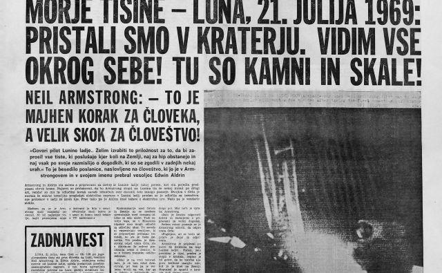 časopis delo izdano 21. julij 1969, človek na luni Foto