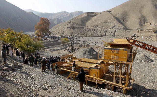 Rudnik vNor Aabi v Afganistanu. Rudniki v tej državi sodijo med najnevarnejše na svetu. FOTO: Omar Sobhani/Reuters