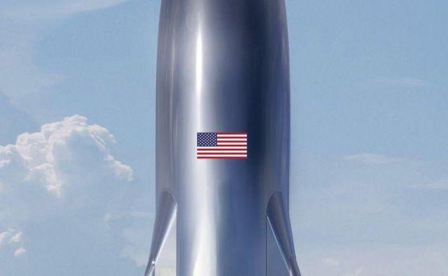 Testno plovilo Starship. FOTO: Elon Musk/SpaceX